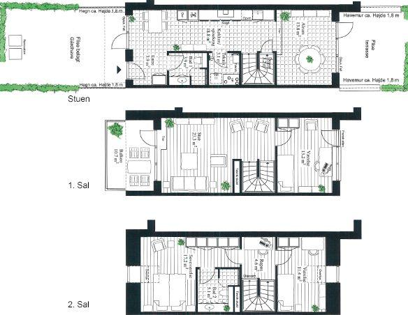 10 arkitekttegnede Lind & Risør-rækkehuse i 3 plan, med central placering i Nærum, Nordsjælland. Eksklusive huse i spændende arkitektur med blandt andet egen carport/udhus og opført i moderne materialevalg.