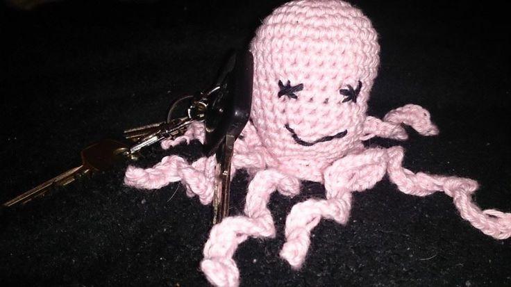 amigurumi, pink octopuss