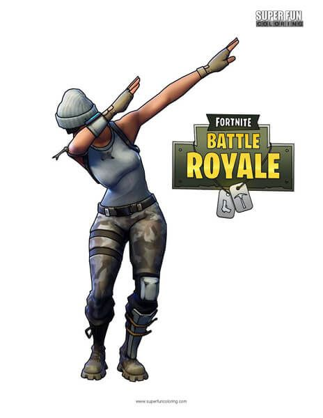 Fortnite Dab Coloring Page In 2019 Cool Coloring Pages