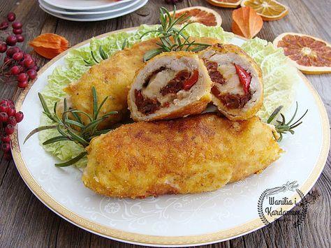 Wanilia i Kardamon: Roladki drobiowe z suszonymi pomidorami, panierowa...