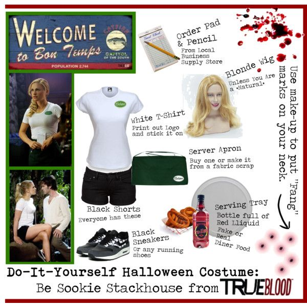 """Do-It-Yourself Halloween Costume: Sookie Stackhouse"" by ketsy on Polyvore"