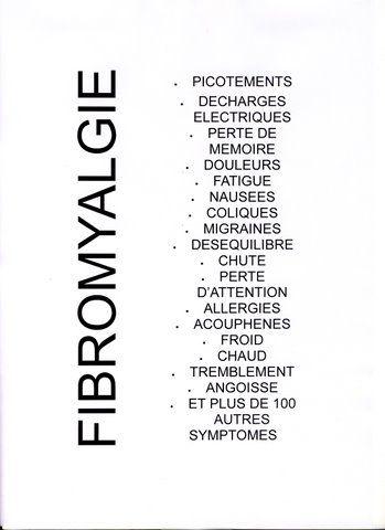 Quelques symptômes de la fibromyalgie.
