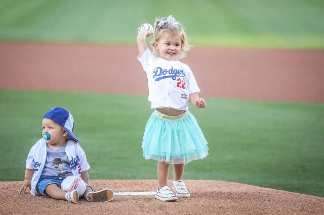 The baby Kershaws took over Dodger Stadium and it was one of the most adorable things ever | MLB.com