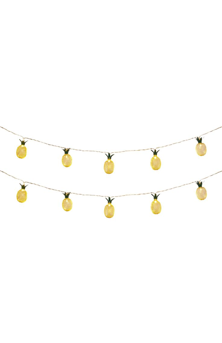 Metalen lichtslinger ananas, 10 lampjes