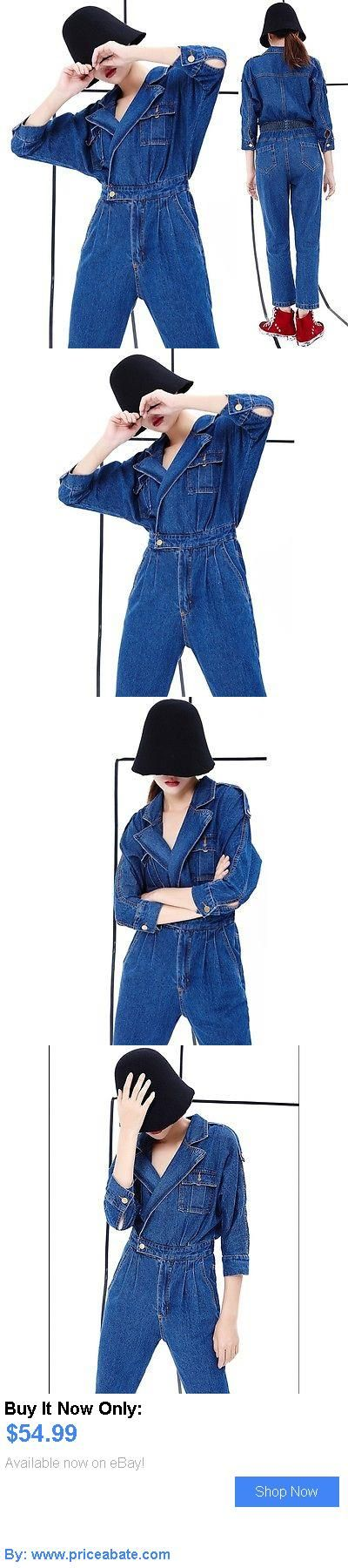 Jumpsuits And Rompers: Autumn Casual Womens Denim Jumpsuits Overalls High Waist Fashion Jeans Playsuit BUY IT NOW ONLY: $54.99 #priceabateJumpsuitsAndRompers OR #priceabate