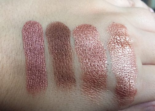 muse, boy band, sequin, and  lala colourpop eyeshadows swatch fall 2016
