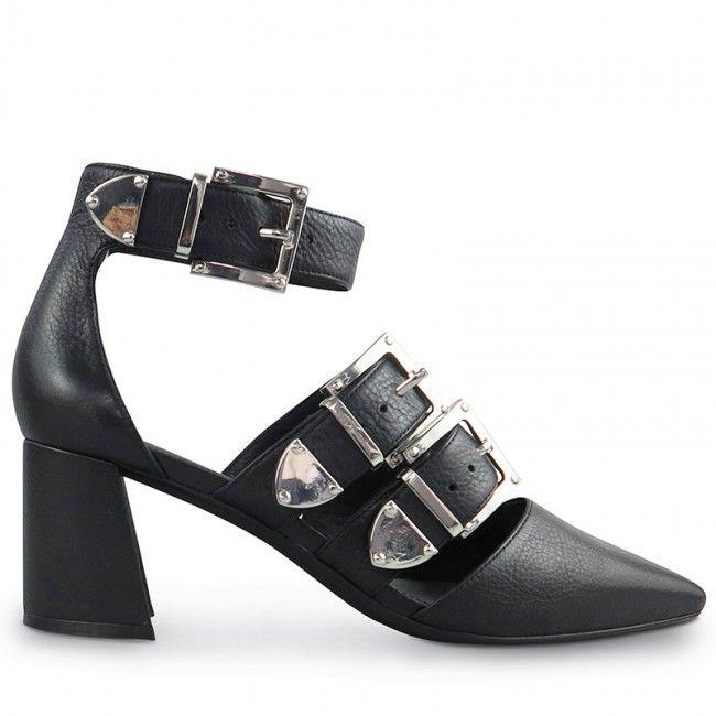 Wittner Dania Pump Black Leather