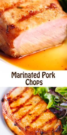 Grilled Beer Marinated Pork Chops  make the perfect pork chop marinade that will…