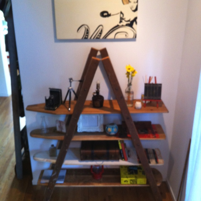 Ladder + Old Ironing Boards > Anything @Ikea