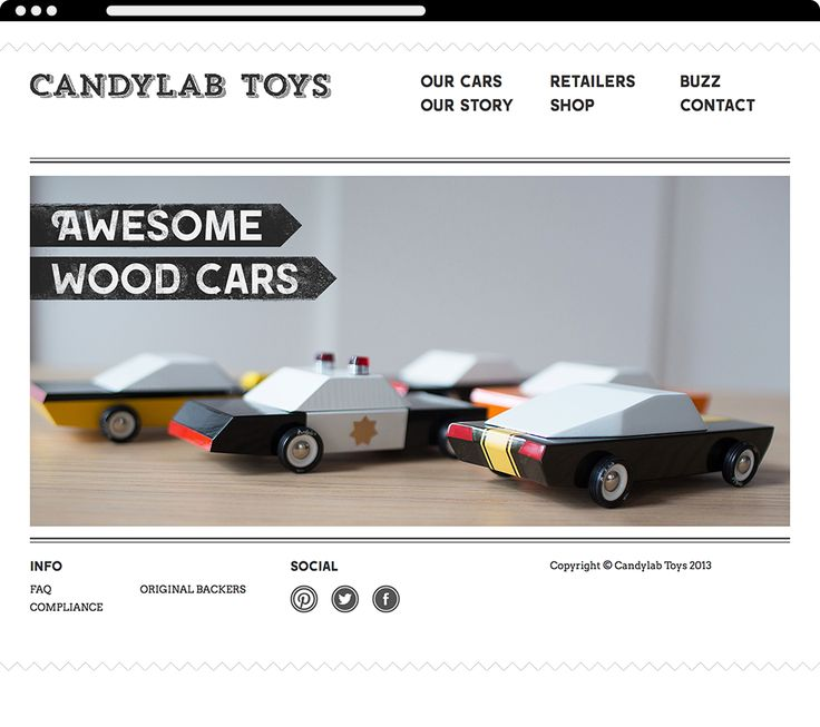 CandyLab Toys Website on Behance