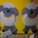 paper plate sheep craft idea for kindergarten