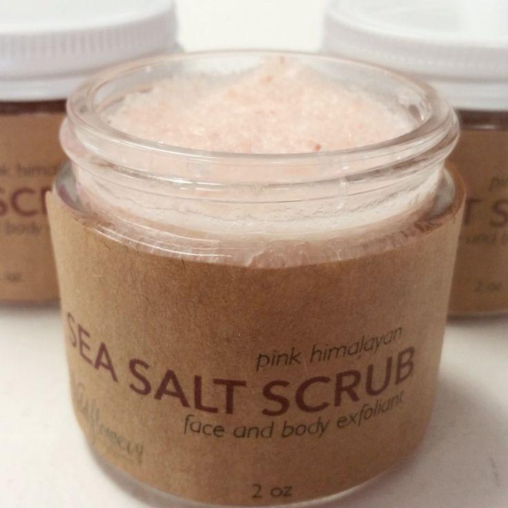 Sea Salt Scrub - Pink Himalayan Sea Salt - Natural Exfoliant