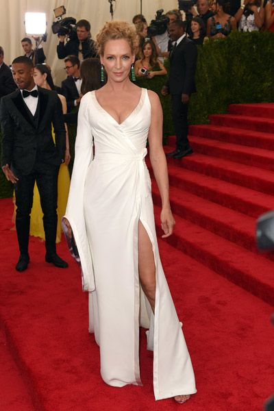 Uma Thurman in Atelier Versace at the 2015 Met Gala.