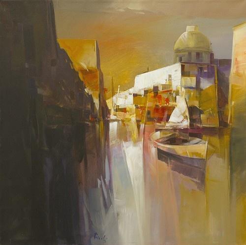 Ricordi     Artist   Pietro Piccoli      Subject   Venice     Medium   Acrylic/Oil on Canvas     Category   Painting     Dimensions   H 31.5in x W 31.5in