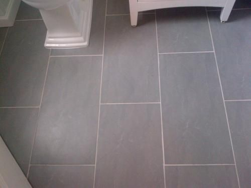 12x24 Porcelain Slate Tile Bathroom Ensuite