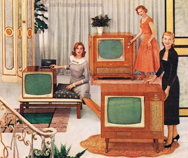fabulous MCM television consoles from RCA - 1956