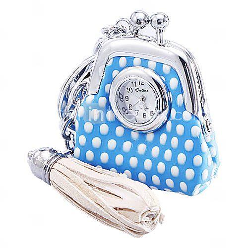 #gift #regali #borsa #bag #gifts for her Donne e PU quarzo analogico portachiavi orologio della ragazza con la borsa del modello (Multi-Color)