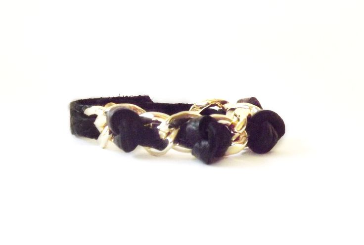 bracelet,leather and metal