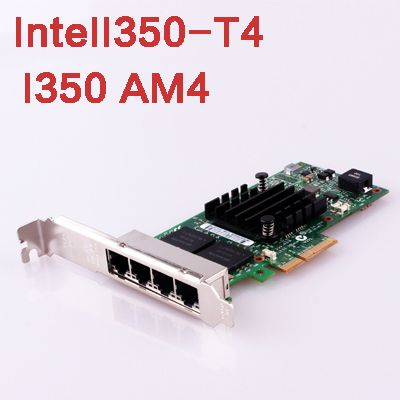 IntelI350-T4 I350AM4 Chip PCI Express Network Card PCI-E Adapter 4 Gigabit Lan Port 1000M Ethernet Network interface Card Driver
