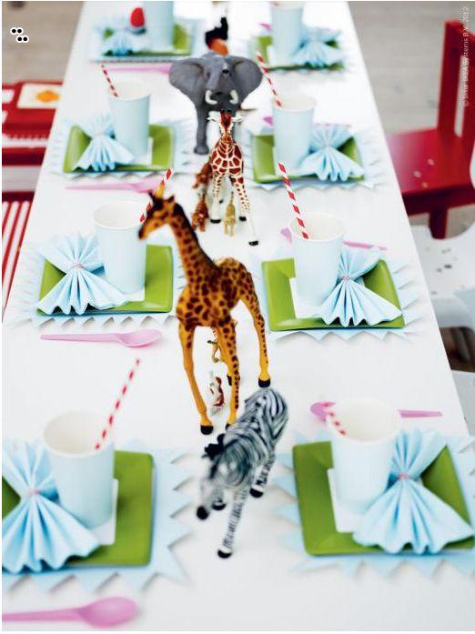 A simple and fun animal-themed birthday party idea from IKEA. Photo via Livet Hemma.