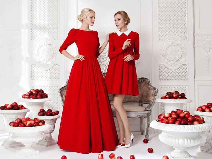 Платье «Леди Ди» красное— 24990рублей, Платье «Берта» красное— 19 990 рублей