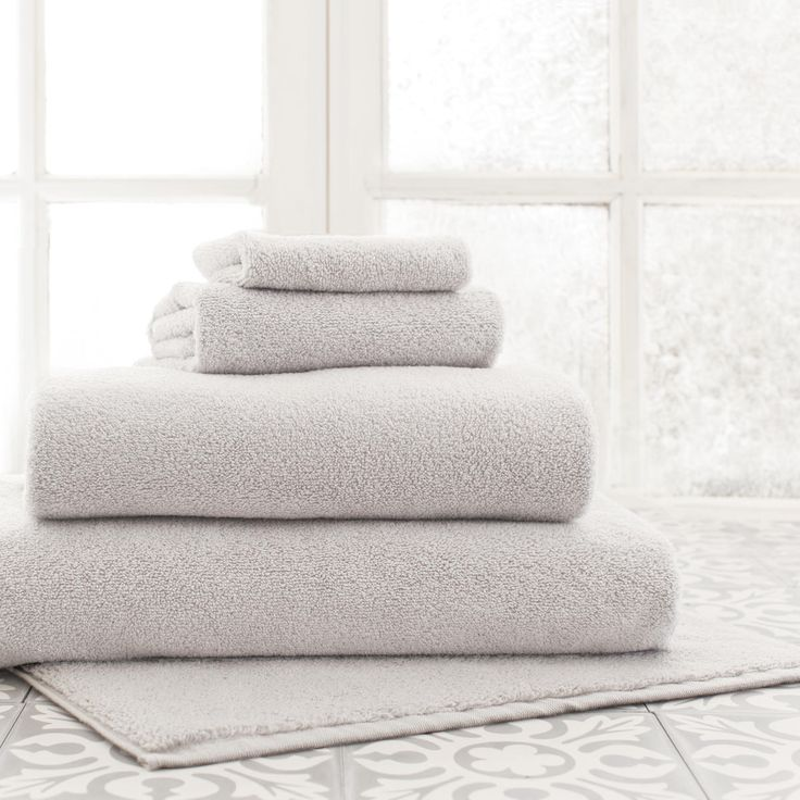Pine Cone Hill | Signature Dove Grey Bath Towel | You'll reach for these soft, luxurious, superabsorbent, and durable cotton bath towels year after year.