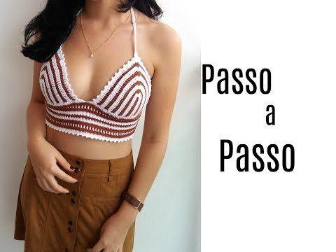 Top/Cropped em Crochê Mesclado Super Fácil Passo a Passo - YouTube