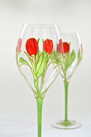 Toasted Glass - Tulips Crystal Wine Glasses