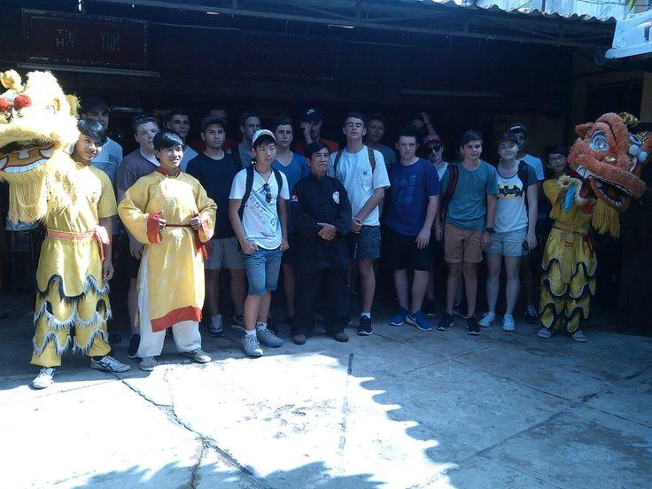 A photo with Grand Master Tran Xuan Man. #VietnamSchoolTours #HoiAn