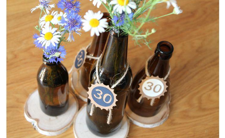 Jak uciąć szklaną butelkę? Instrukcja krok po kroku. Jak wykorzystać butelki po piwie? zrób świecznik i wazony do polnych kwiatów. DIY Męska impreza motyw przewodni. Bottle cut water and fire