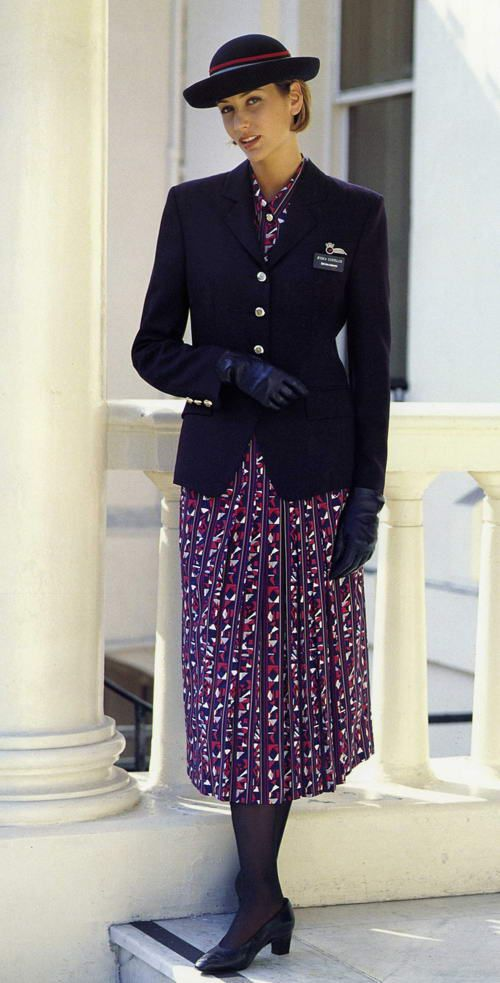 British Airways Vintage Uniform 1992-2005 Lets hope they NEVER bring this one back !