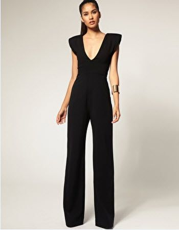 Jumpsuits. The new black dress! (Don't think I could pull this off but it is cute and different)