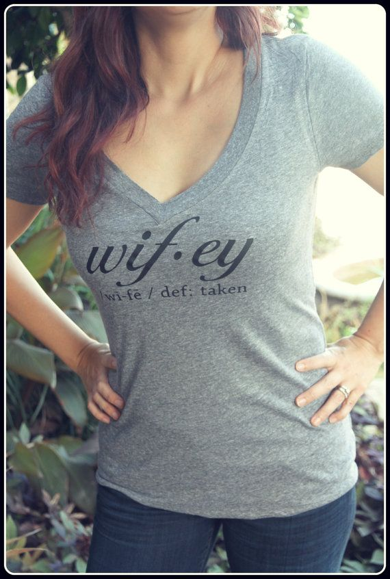 Wifey Definition Shirt Wifey Shirt Taken Gray by TheStickerPlace