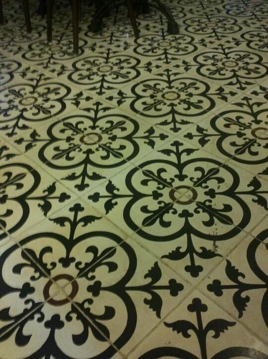Floor tile at QQ Kopitiam