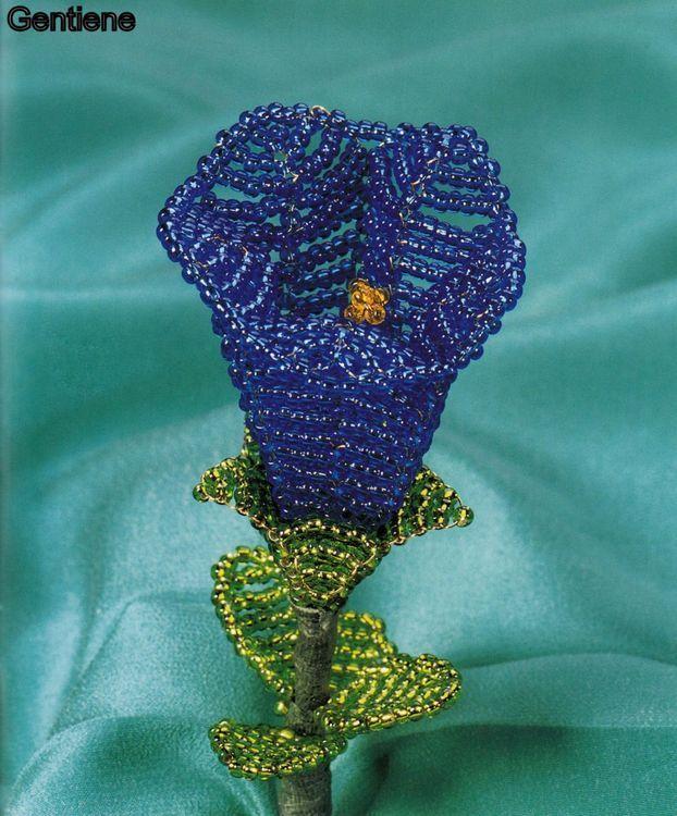 Flori decorative din margele II - Gentiene