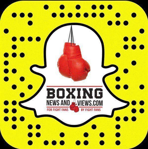 snapchat boxing news and views