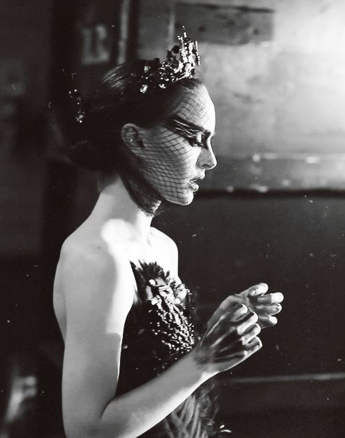 Natalie Portman on the set of Black Swan