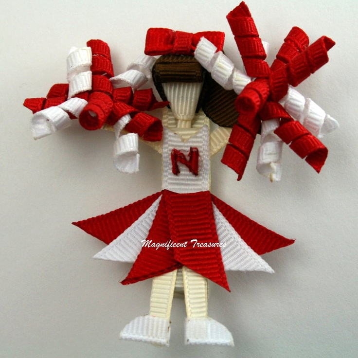 Customizable Cheerleader Hair Clip or Pin by Magnificence on Etsy