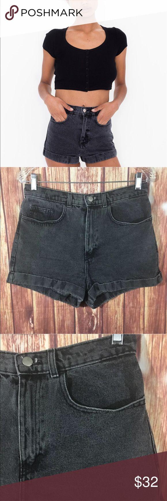 """American Apparel High-Waist Jean Short American Apparel shorts, women's size 30.   Waist 30"""" length 13"""" inseam 2"""" American Apparel Shorts Jean Shorts"""