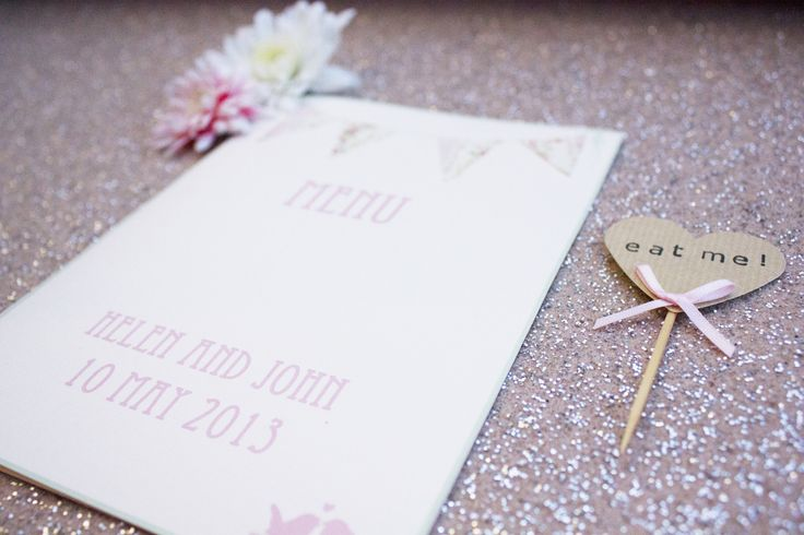 Handmade rustic menu by Paper Wedding. www.paperwedding.co.uk Photographs by Michelle Huggleston Photography.