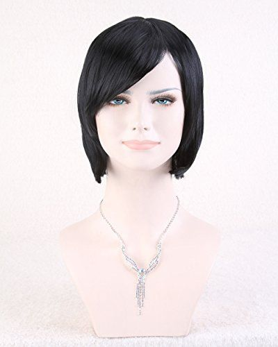 Cool2day Womens Short Straight BOB Hair Party Full Wig Model Jf010710 Black * Be sure to check out this awesome product.Note:It is affiliate link to Amazon.
