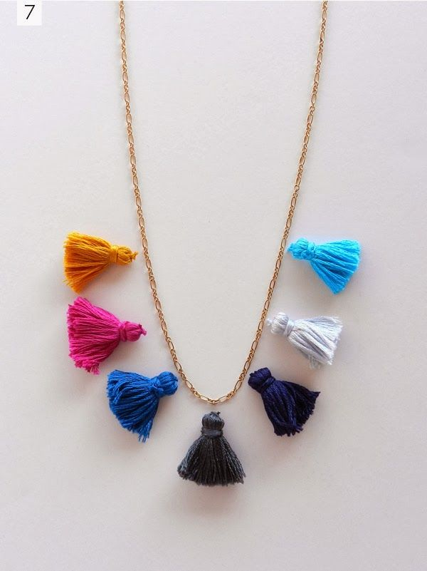 SAS+ROSE: DIY: TASSEL NECKLACE