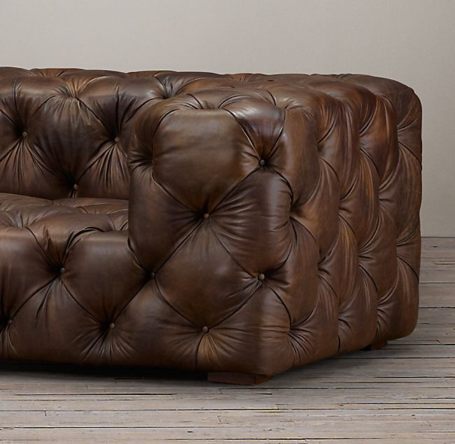 Soho Tufted Leather Sofa Muebles In