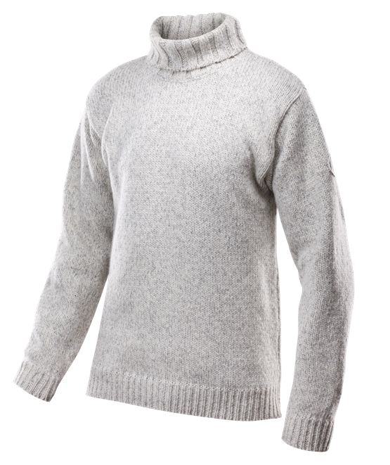 Nansen sweater high neck - Grey melange - Devold of Norway
