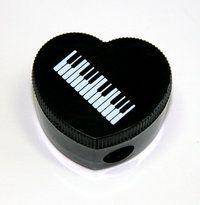 Bleistiftspitzer Herzform Keyboard (10-Stück-Packung)