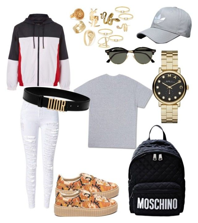 """Untitled #207"" by madisonkiss on Polyvore featuring Puma, Moschino, Marc Jacobs, Chloé, Cartier, Jacquie Aiche, Yves Saint Laurent, Sydney Evan, Anissa Kermiche and Iconery Basics"