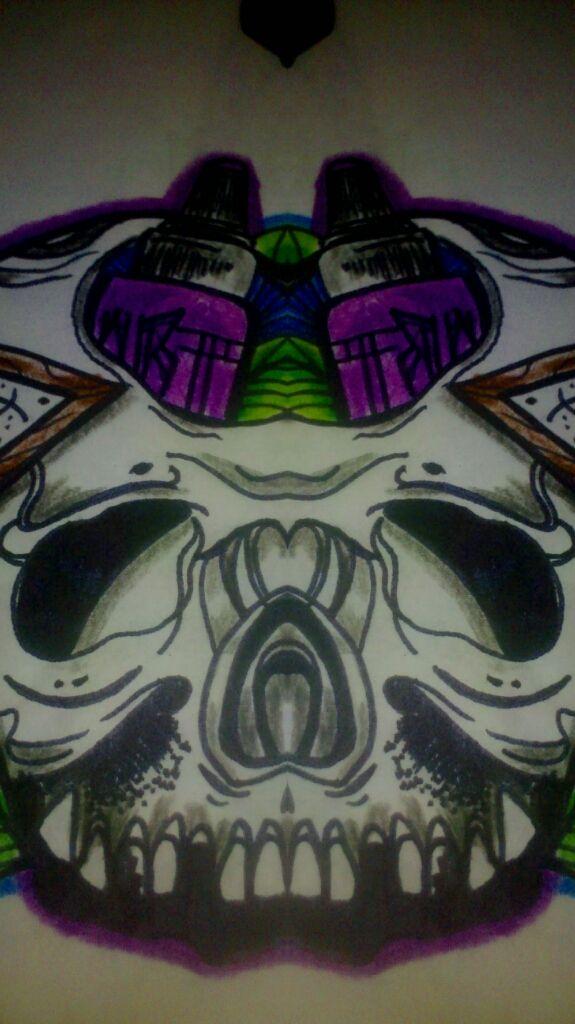 skull design tattoo DMT