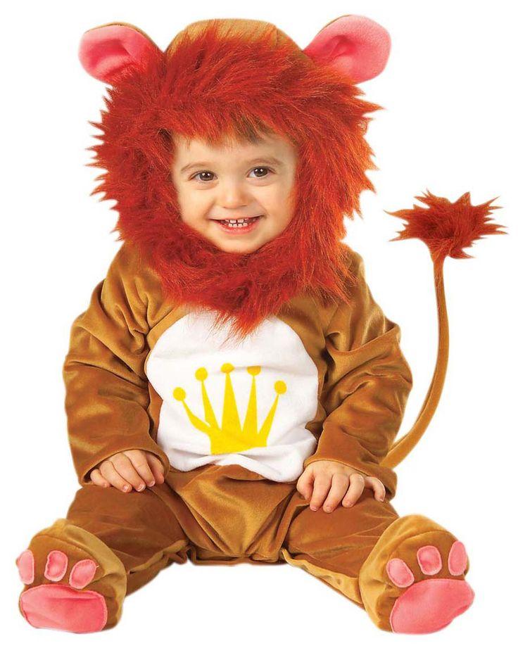 Disfraz de león para bebé: Este disfraz de león para bebé se compone de una combinación y un pasamontañas. La combinación es de color marrón claro y tacto aterciopelado; la cola lleva...