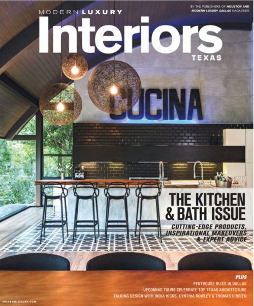 Modern Luxury Magazine Fall Winter 2015 Cover Robin Colton Interior Design Studio Featured In This