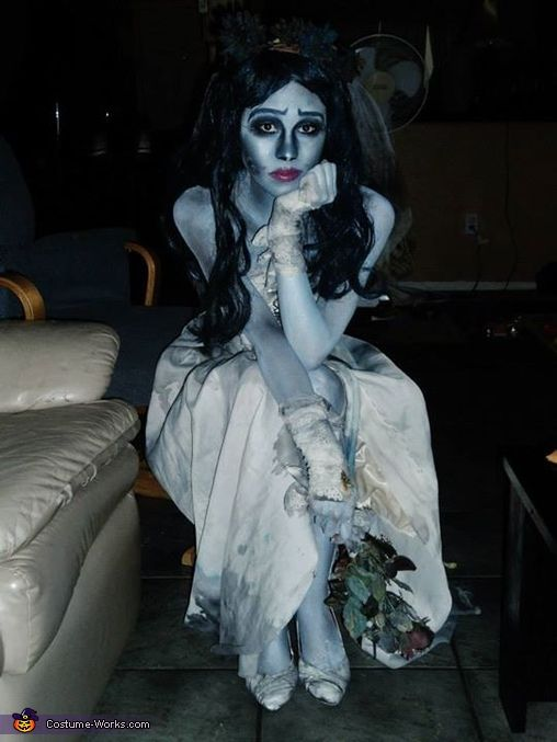 emily from corpse bride costume pinterest homemade. Black Bedroom Furniture Sets. Home Design Ideas